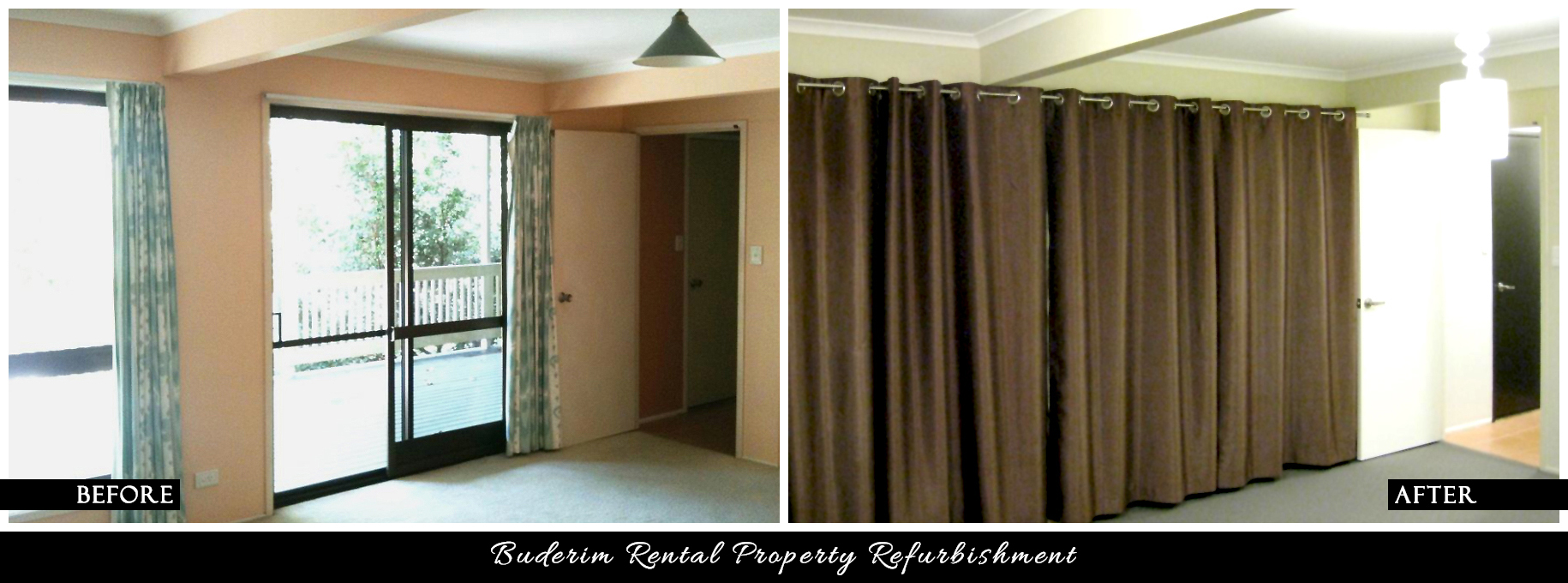 CANDY & CO. - BUDERIM RENTAL PROPERTY Before & After - Bedroom