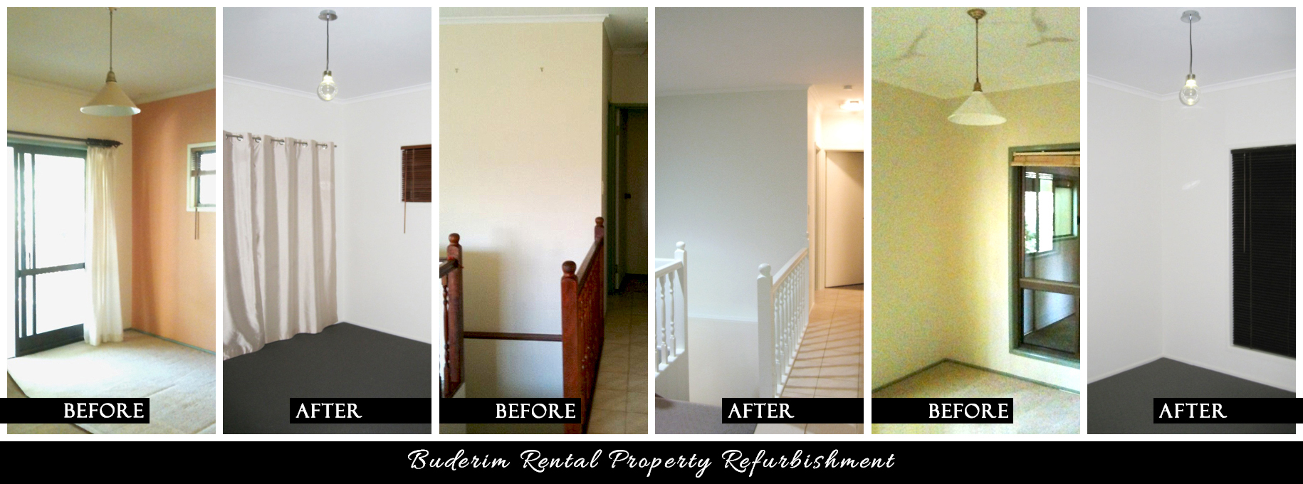 CANDY & CO. - BUDERIM RENTAL PROPERTY Before & After - Various