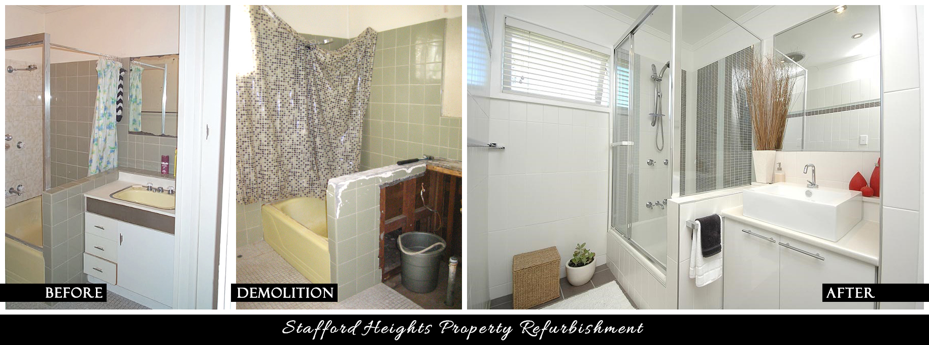 CANDY & CO. - STAFFORD HTS PROPERTY  Before & After - Bathroom